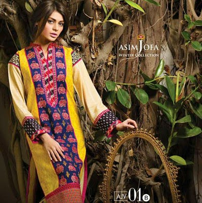 Asim Jofa Winter Dress Collection for Girls