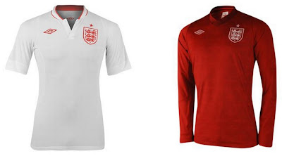 England Home+Away Euro 2012 Kits (Umbro)