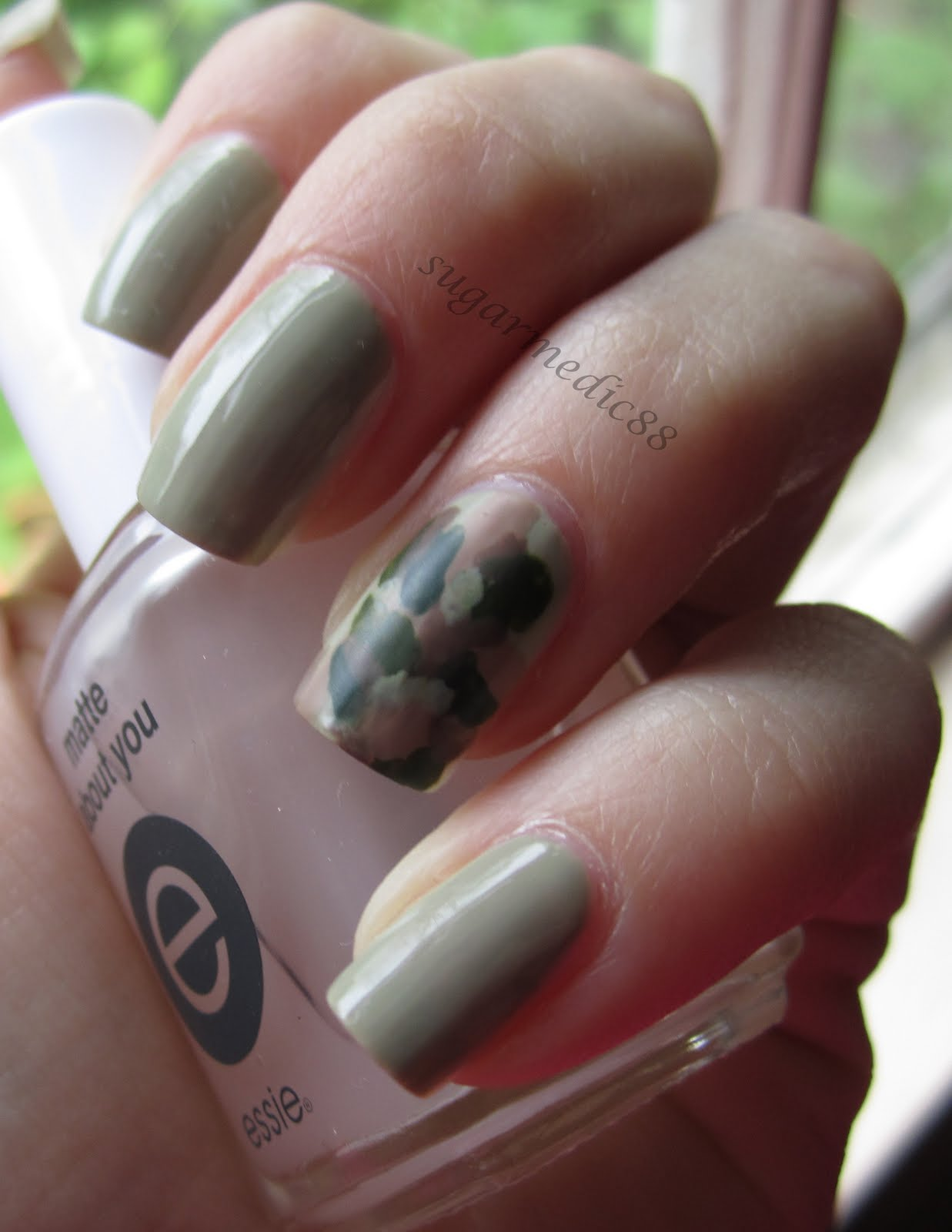 The polished medic how to camouflage nails tutorial monday may 16 2011 prinsesfo Choice Image
