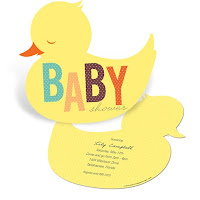 baby duck invite