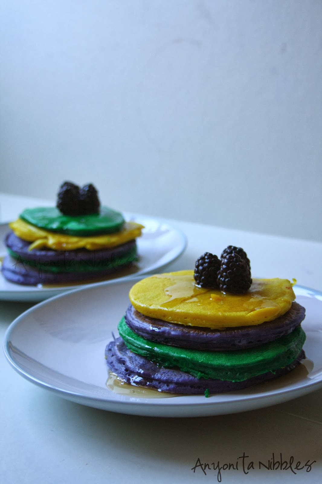 These thick, American-style pancakes are perfect for celebrating Mardi Gras