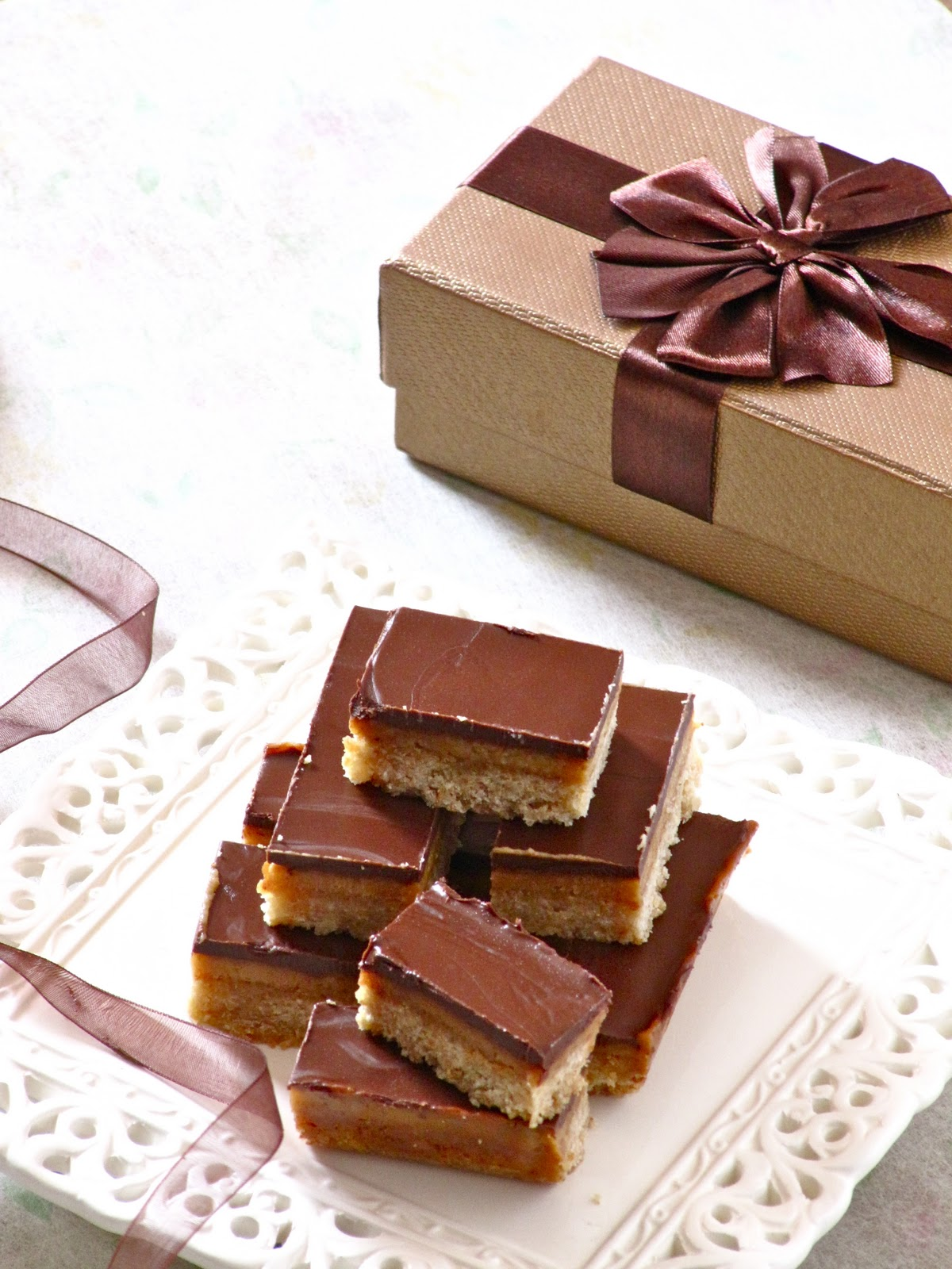 Plateful: Chocolate Caramel Slice — the perfect holiday treat