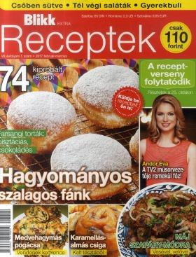 A receptjeim a Blikk Receptek újságban is megjelennek