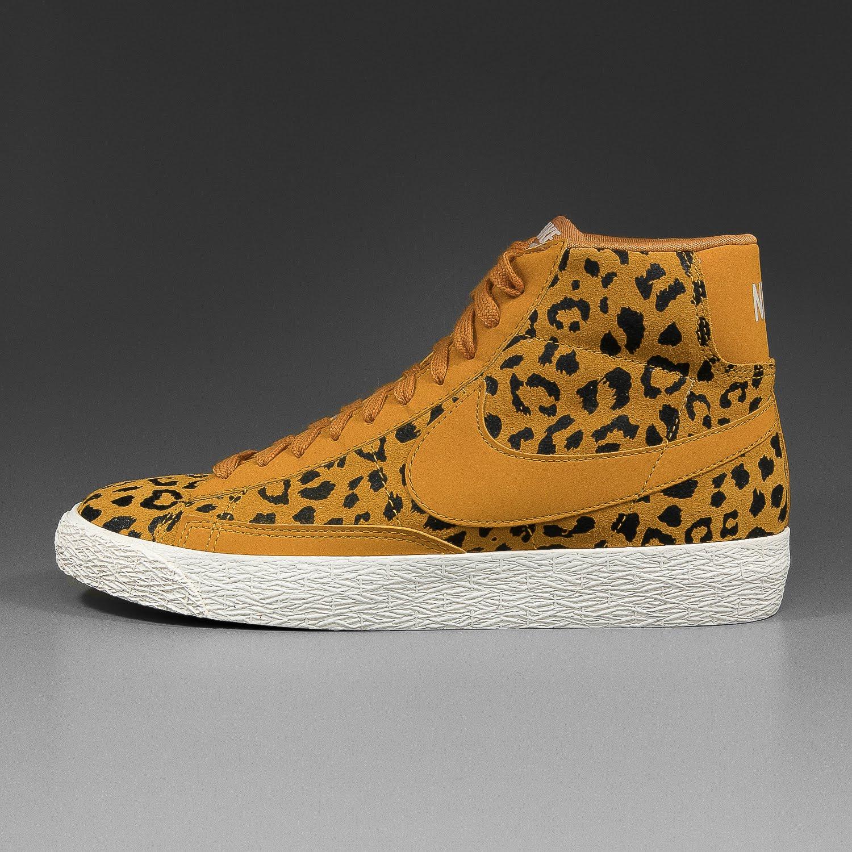 nike blazer mid leopard print trainers
