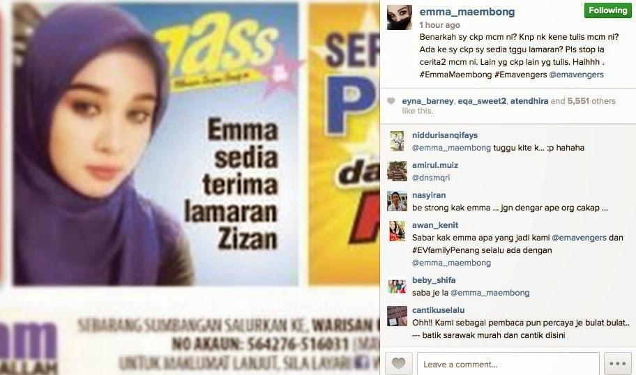 Emma Maembong Nak Apa Sebenarnya?, info, terkini, hiburan, sensasi, gosip, emma maembong