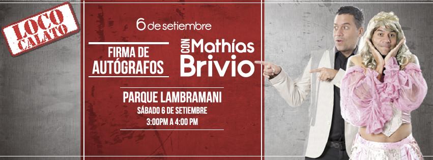 Firma de autografos de Mathías Brivio