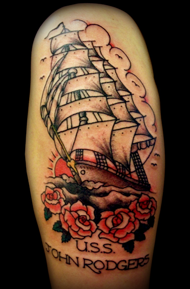 tattoo designs old school ship tattoo. Black Bedroom Furniture Sets. Home Design Ideas