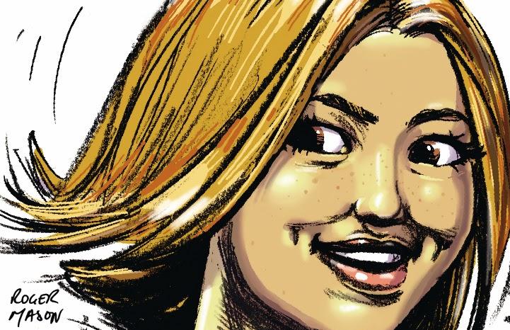 Smiling Woman storyboard frame, art by Roger Mason 2014