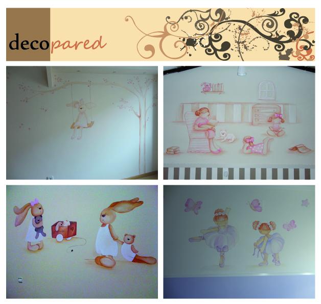 Decopared murales para bebes - Murales infantiles pintados a mano ...
