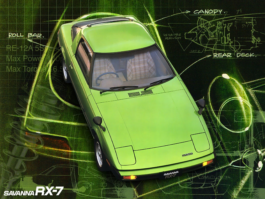 Mazda Savanna RX-7, wankel, samochód z duszą, kultowy, znany, japońskie coupe, zdjęcia