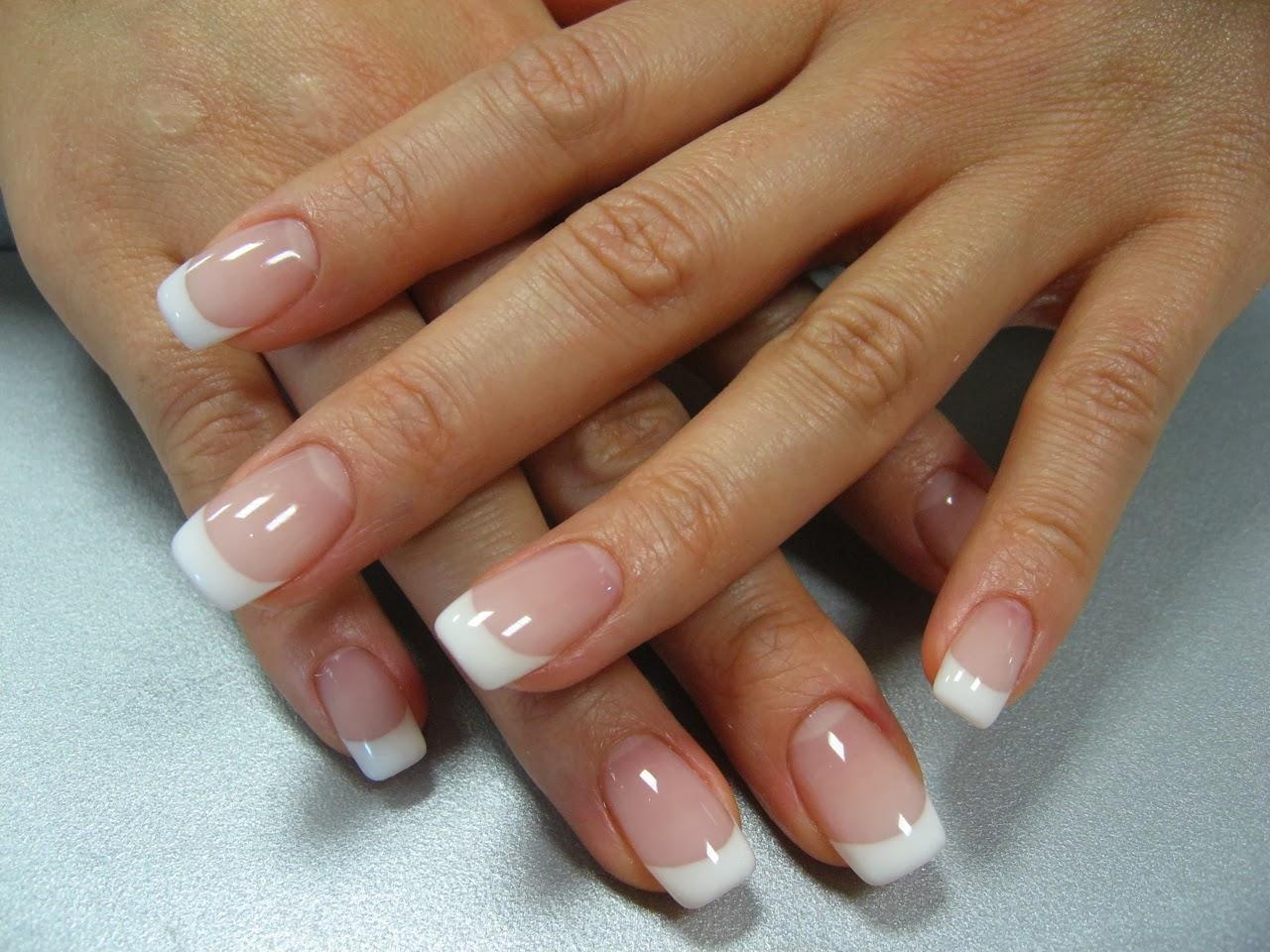 Фото наращивание ногтей французский маникюр
