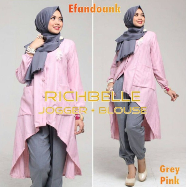 Kumpulan Baju Muslim Wanita Setelan Celana Terpopuler