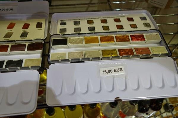metallic paint colors Salon del Restauro Florence Italy Fortezza da Basso