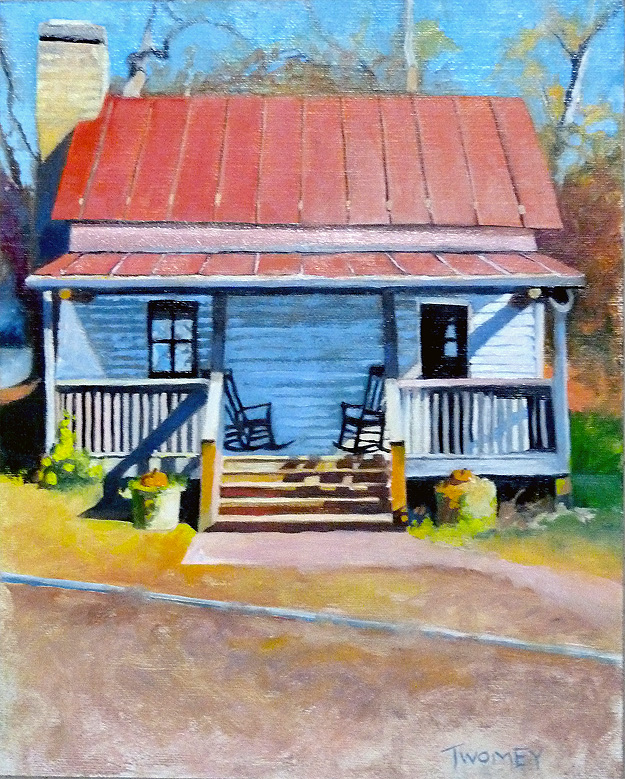 Twomey Oil Painting of Old Library Building
