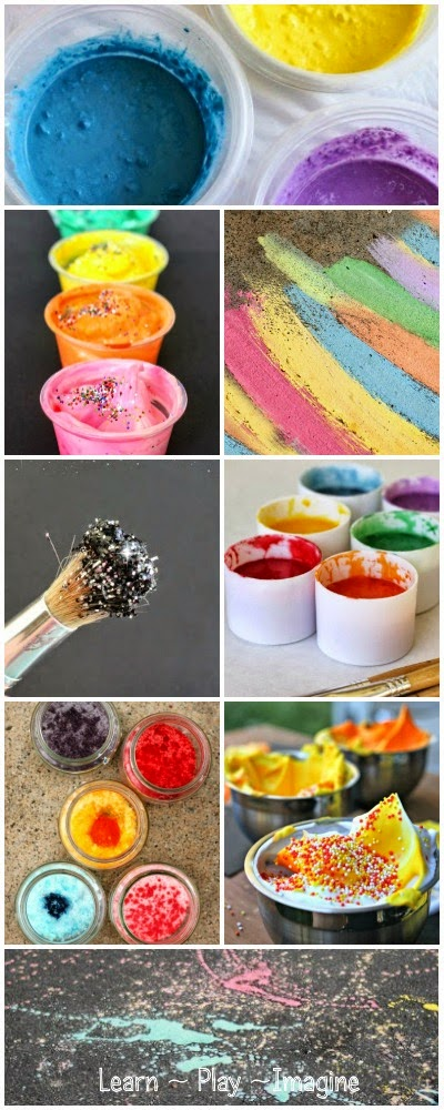 21 TWO INGREDIENT homemade paint recipes for kids