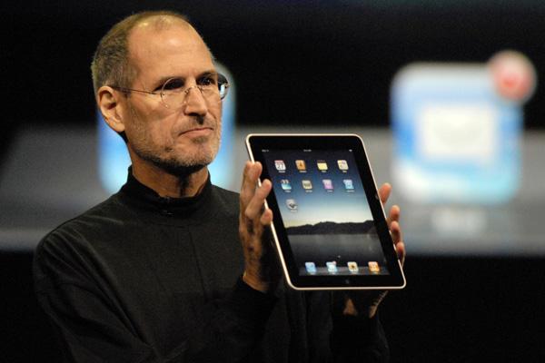 Steve Jobs presentando el Ipad