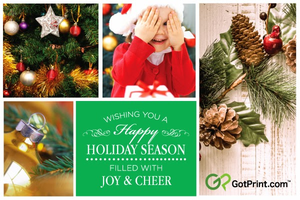 GotPrint wishes you a happy holiday season banner