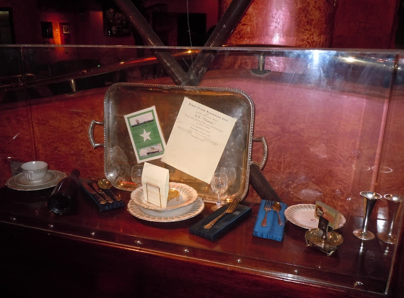 Titanic dining room film props