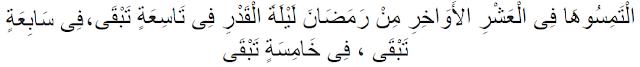 Pengertian dan Tanda-Tanda Malam Lailatul Qadar