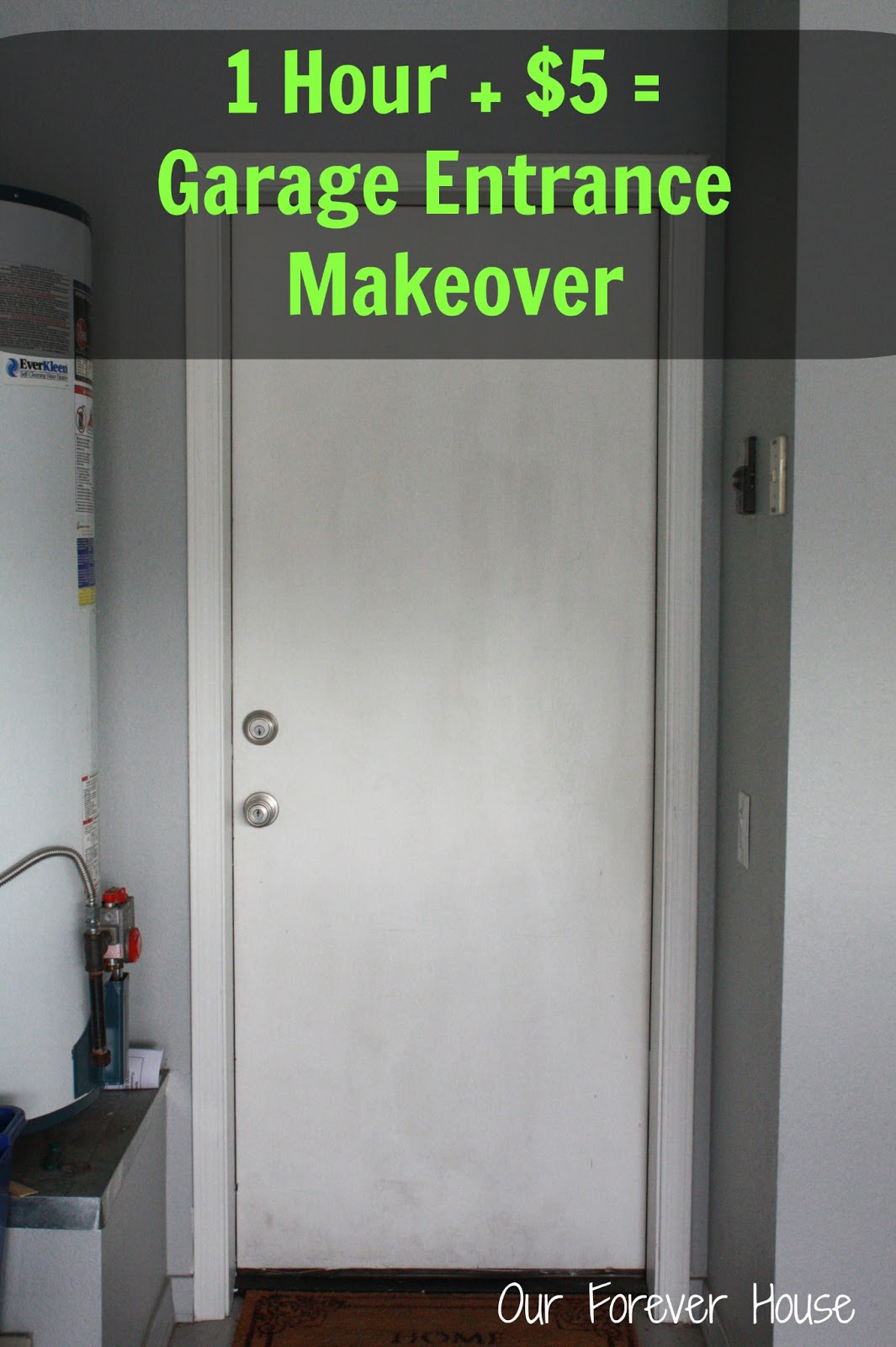 Our forever house quick cheap back door makeover for Cheap front and back doors