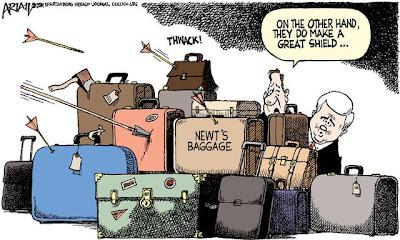 Newt's Baggage by Robert Ariail