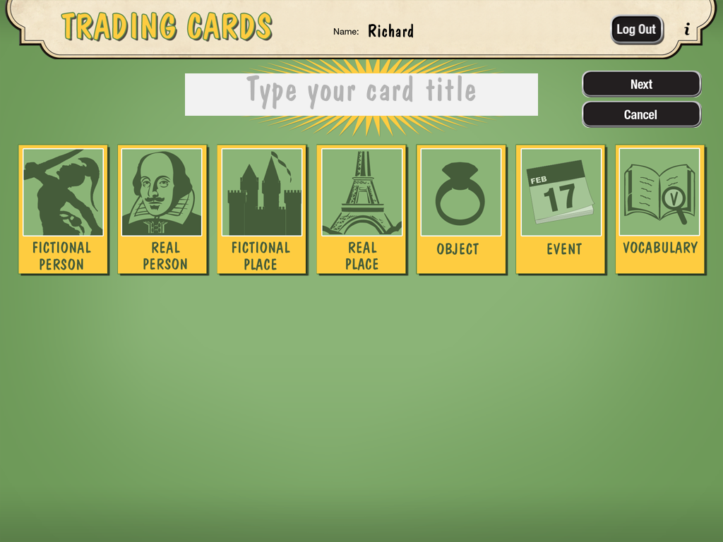 free technology for teachers create trading cards for historical
