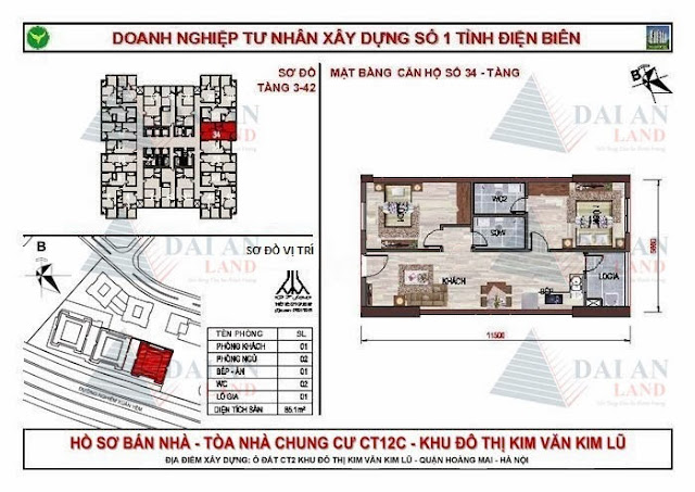Căn 34 - Chung Cư Kim Văn Kim Lũ CT12C