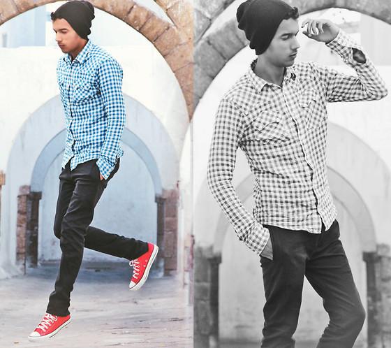 look converse rojas hombre