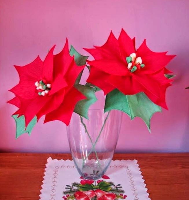 DIY Crepe Paper Poinsettia The Christmas Star