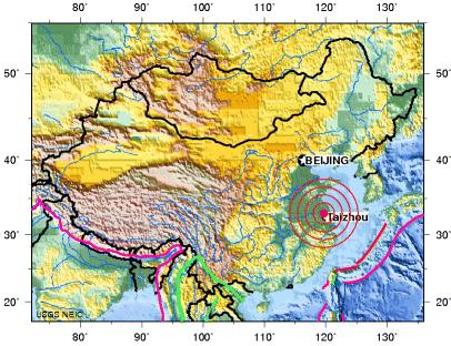 Jiangsu, china earthquake 2012 july 20