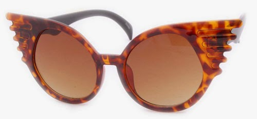TORTOISE CAT EYE VINTAGE STYLE SUNGLASSES