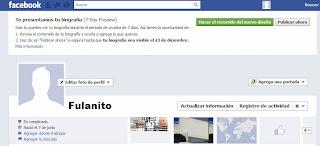 ligar con la biografia de facebook