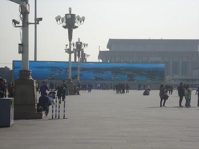 Di belakangadalah skrin terpanjang di Chinaada 2 buah skrin kat