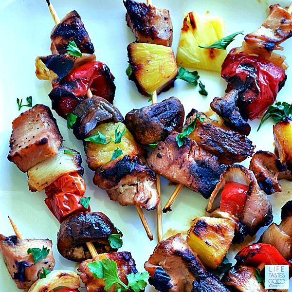Grilled Honey Chicken Kabobs