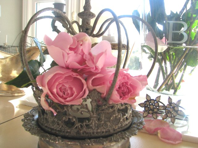 Decorative crown centerpieces and blinged out crowns on