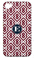 Geometric Pattern iPhone Case with Initial