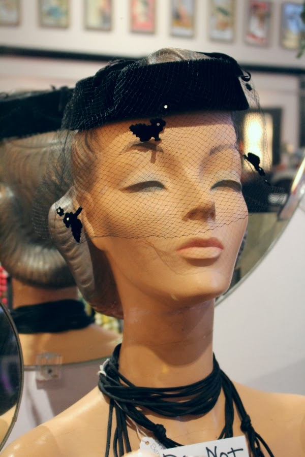 Vintage Lady Hat Display #vintage #decor #display #hat