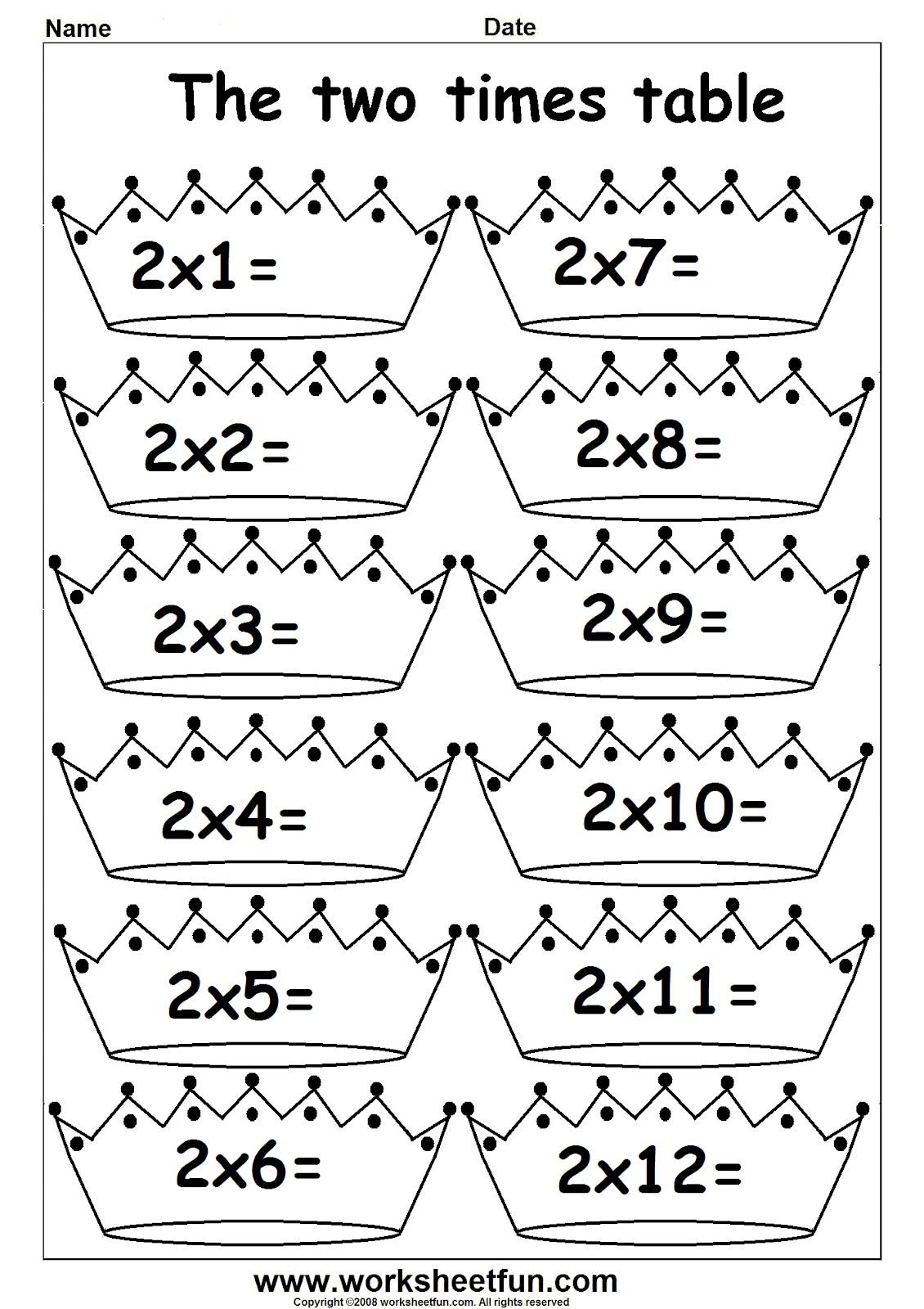 arab unity school grade 1 c blog maths multiply by 2 worksheets. Black Bedroom Furniture Sets. Home Design Ideas
