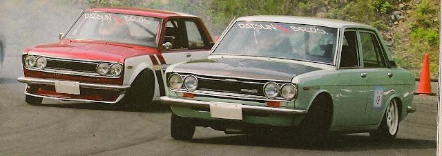 Nissan (Datsun) Bluebird 510 stary japoński samochód sportowy oldschool klasyk drifting