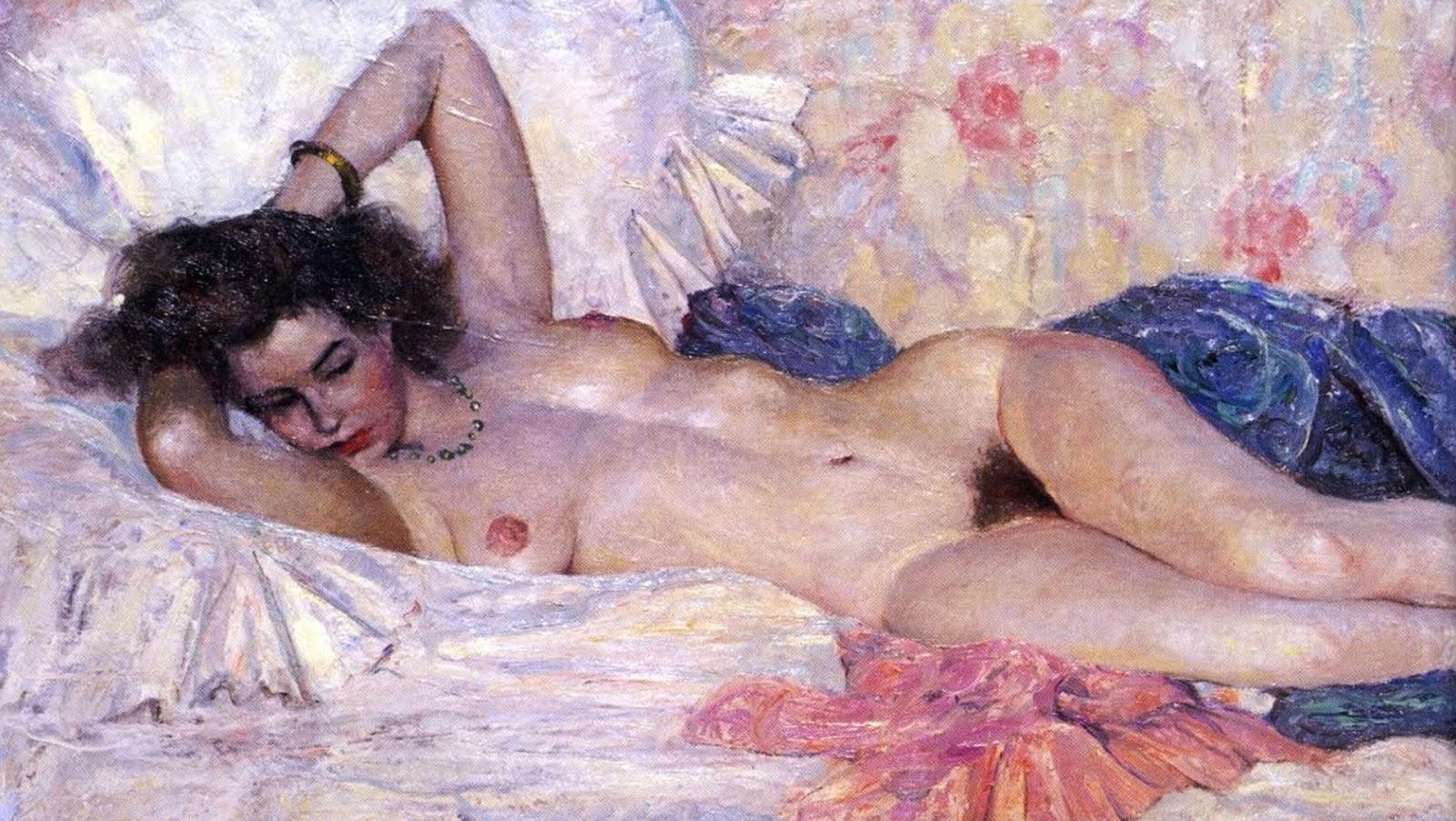 Ретро рисунки голых женщин, Старые, классические, ретро эротические фотографии 4 фотография