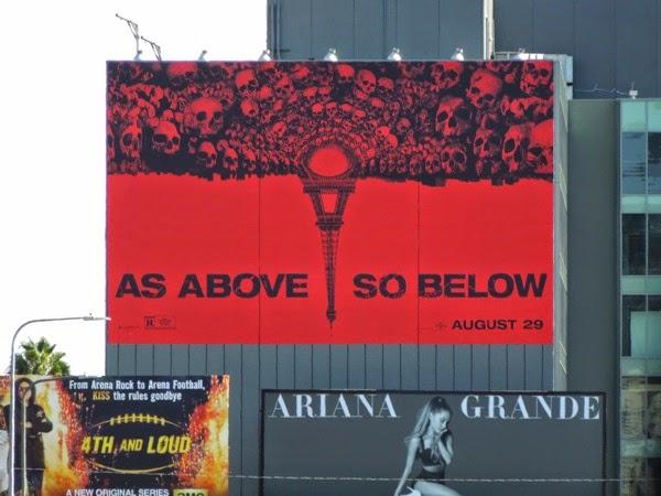 Giant As Above So Below movie billboard