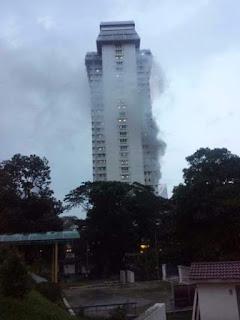 video ibu pejabat polis bukit aman terbakar