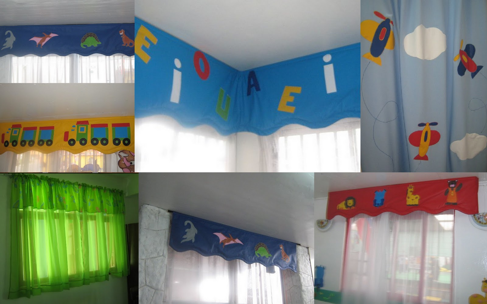 Decoracion jardin infantil for Cortinas para aulas