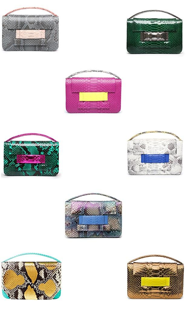Metalskin Handbags New York Alicia Halegua