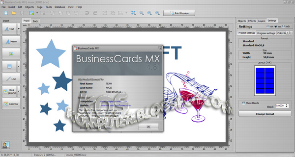 free download sharing software mojosoft businesscards mx