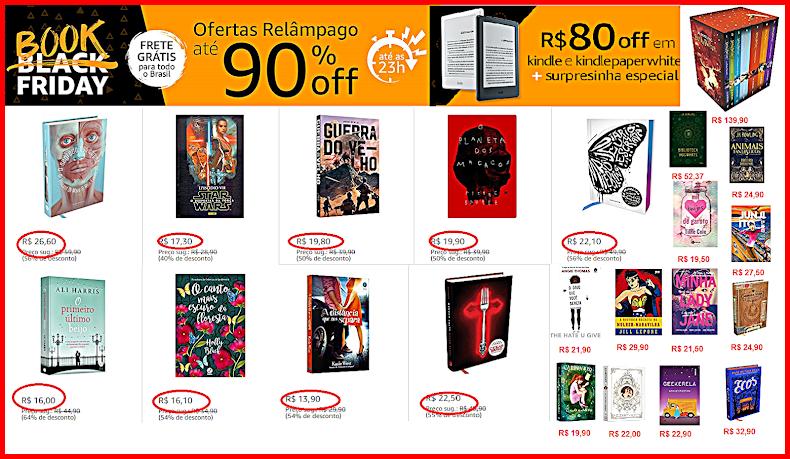 Book Friday na Amazon FRETE GRÁTIS