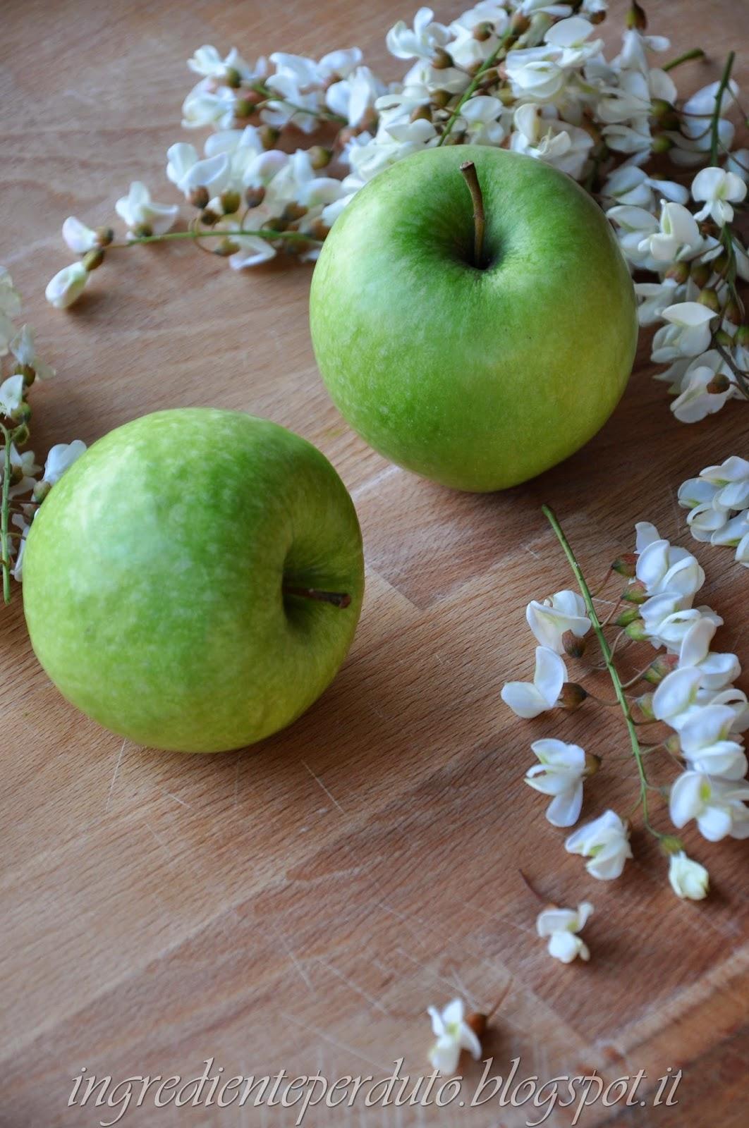 gelée di mele ai fiori d'acacia secondo il metodo ferber (gelée de pommes aux fleurs d'acacia )