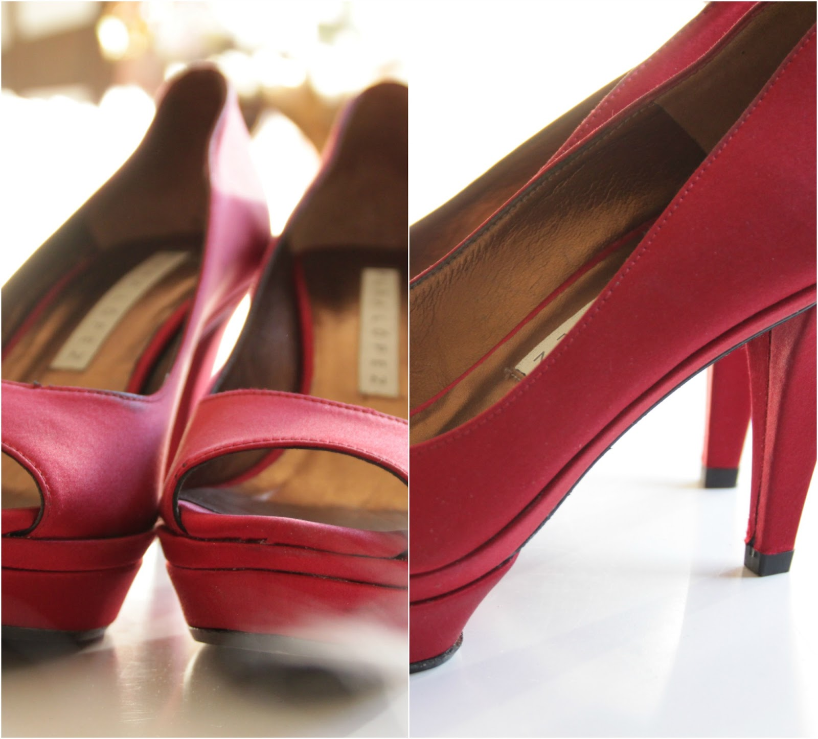 Diese Schuhe trägt man ohne Strumpfhosen und die Beine müssen ein bisschen gebräunt sein