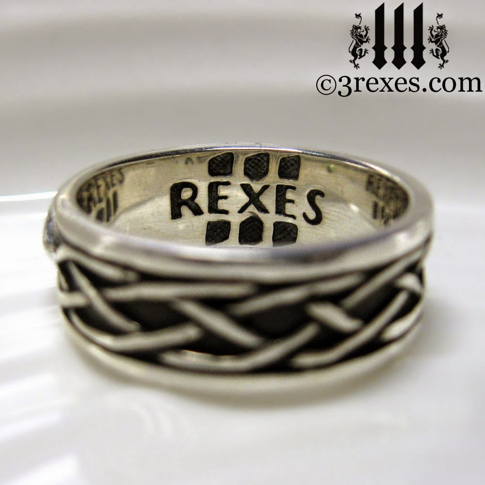 mens silver celtic soul wedding ring gby 3 rexes jewelry
