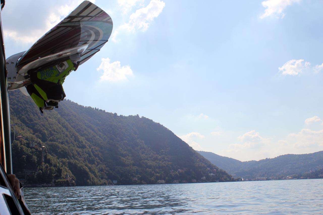 wakeboard ski λίμνη κόμο ιταλία